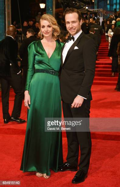 Elize du Toit and Rafe Spall attend the 70th EE British Academy Film Awards at Royal Albert Hall on February 12 2017 in London England