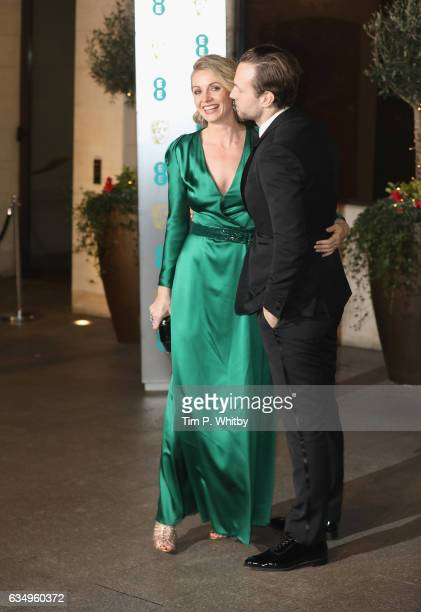 Elize du Toit and Rafe Spall attend the official after party for the 70th EE British Academy Film Awards at The Grosvenor House Hotel on February 12...