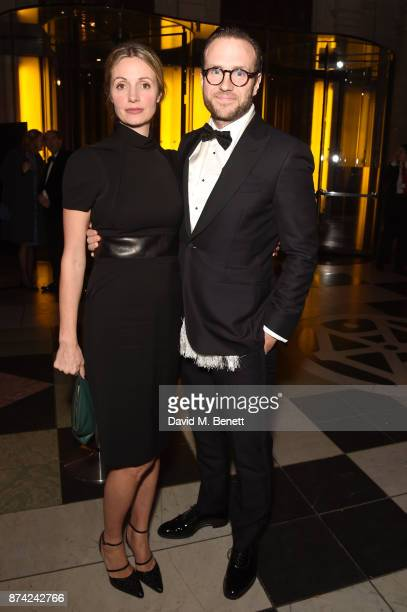 Elize du Toit and Rafe Spall attend The Sugarplum Dinner 2017 in aid of type 1 diabetes charity JDRF at The VA on November 14 2017 in London England