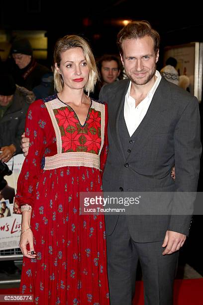 Elize Du Toit and Rafe Spall attend the UK film premiere of Mum's List at The Curzon Mayfair on November 23 2016 in London England