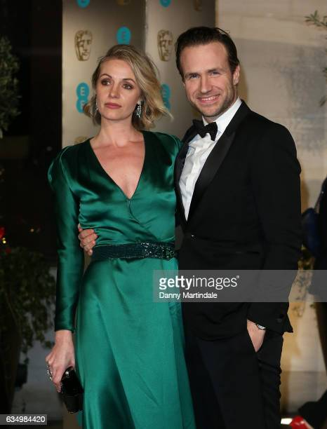 Elize du Toit and Rafe Spall attends the official after party for the 70th EE British Academy Film Awards at The Grosvenor House Hotel on February 12...