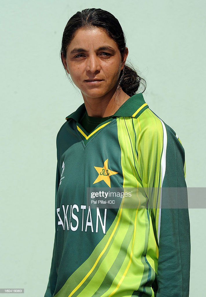 Elizebath Barkat of Pakistan attends a portrait session ahead of the ICC Womens World Cup 2013 at the Barabati stadium on January 31, 2013 in Cuttack, India.
