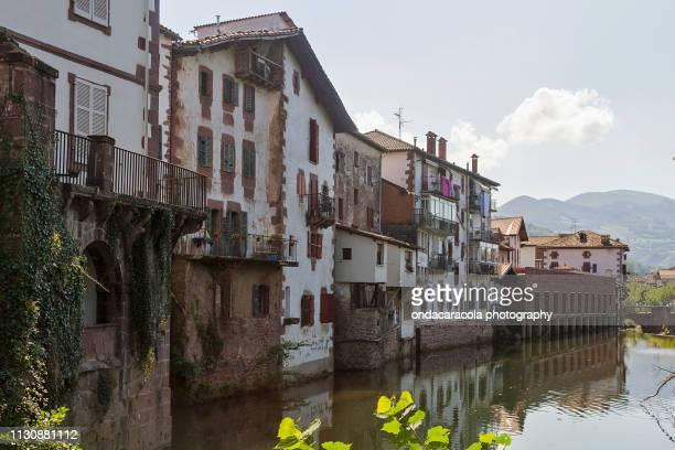 elizondo picturesque town in navarre, spain - comunidad foral de navarra fotografías e imágenes de stock