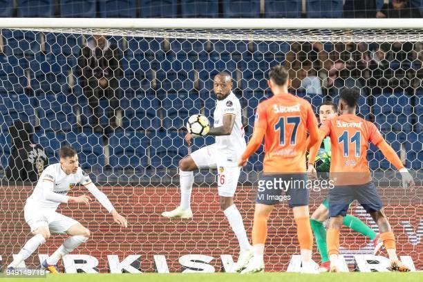 Eljero George Rinaldo Elia of Istanbul Medipol Basaksehir FK scores during the Turkish Spor Toto Super Lig football match between Medipol Basaksehir...