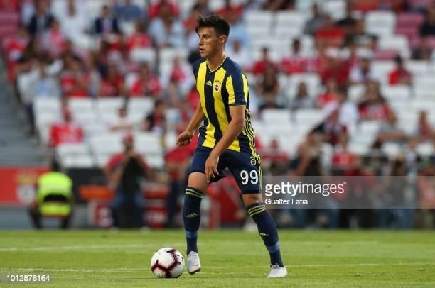 Eljif Elmas of Fenerbache SK in action during the UEFA Champions League Qualifier match between SL Benfica and Fenerbache at Estadio da Luz on August...