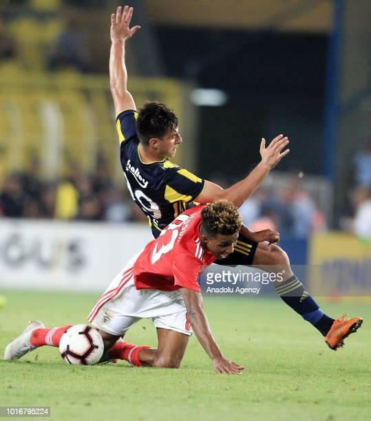 Eljif Elmas of Fenerbahce in action against Gedson Fernandes of Benfica during UEFA Champions League third qualifying round's second leg match...