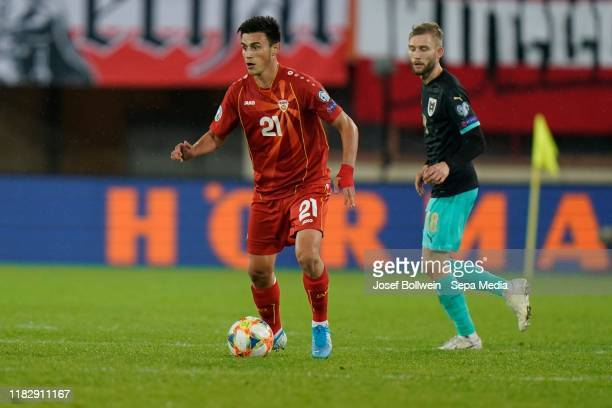 Eljif Elmas of North Macedonia during the UEFA Euro 2020 Qualifier between Austria and North Macedonia on November 16, 2019 in Vienna, Austria.