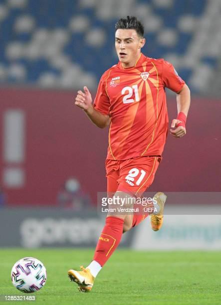 Eljif Elmas of North Macedonia in action during the UEFA EURO 2020 Play-Off Final between Georgia and North Macedonia at Dinamo Arena on November 12,...