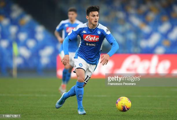 Eljif Elmas of SSC Napoli during the Coppa Italia match between SSC Napoli and Perugia on January 14 2020 in Naples Italy