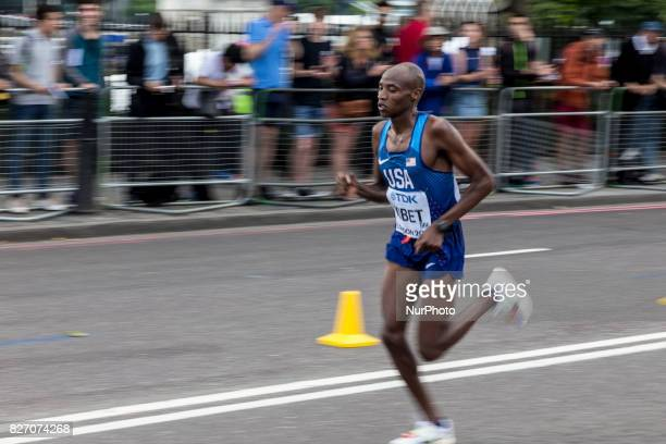 Elkanah Kibet at IAAF World Championships Man Marathon in London UK on August 6 2017 42 kilometre run took place in most picturesque streets of...