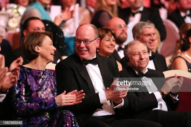 Elke Buedenbender Prince Albert II of Monaco Jean Todt during the 14th Semper Opera Ball 2019 at Semperoper on February 1 2019 in Dresden Germany