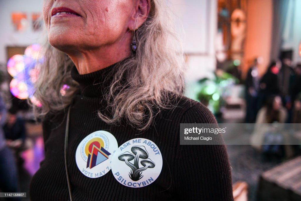 Denver Votes On Nation's First Referendum To Decriminalize Hallucinogenic Mushrooms : News Photo