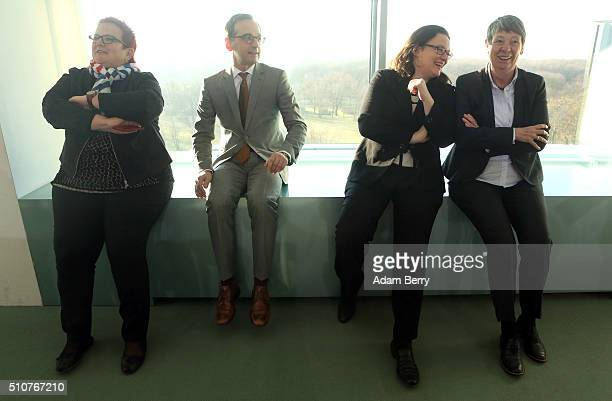 Elke Ferner parliamentary secretary for the federal family ministry Justice Minister Heiko Maas Minister of Work and Social Issues Andrea Nahles and...