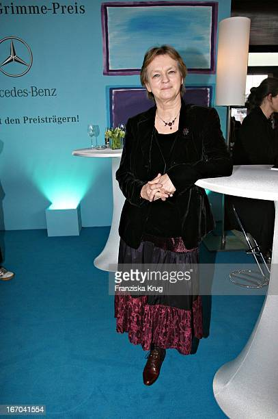Elke Heidenreich Bei Der Verleihung Des Adolf Grimme Preis In Marl Am 310306