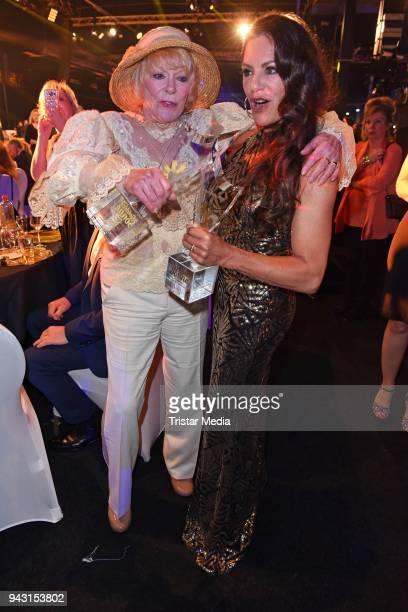 Elke Sommer and Christine Neubauer attend the 'Goldene Sonne 2018' Award by SonnenklarTV on April 7 2018 in Kalkar Germany
