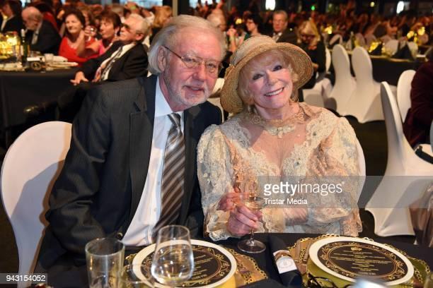 Elke Sommer and her husband Wolf Walther attend the 'Goldene Sonne 2018' Award by SonnenklarTV on April 7 2018 in Kalkar Germany
