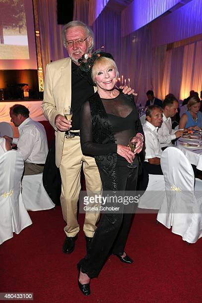 Elke Sommer and her husband Wolf Walther during the Kaiser Cup 2015 golfcup and gala on July 11 2015 in Bad Griesbach near Passau Germany