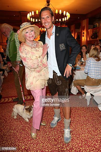 Elke Sommer and Tino Schuster during a bavarian evening ahead of the Kaiser Cup 2016 on July 15 2016 in Bad Griesbach near Passau Germany