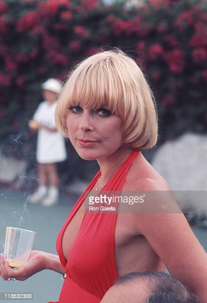Elke Sommer during Tennis and Crumpet Tournament May 21 1977 at Hugh Hefner's Estate in Beverly Hills California United States