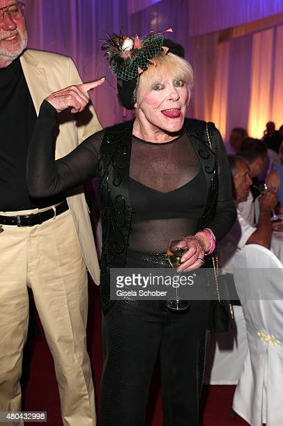 Elke Sommer during the Kaiser Cup 2015 golfcup and gala on July 11, 2015 in Bad Griesbach near Passau, Germany.