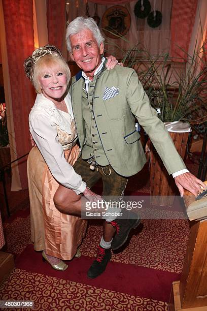 Elke Sommer Frederic Meisner during a Bavarian Evening ahead of the Kaiser Cup 2015 on July 10 2015 in Bad Griesbach near Passau Germany