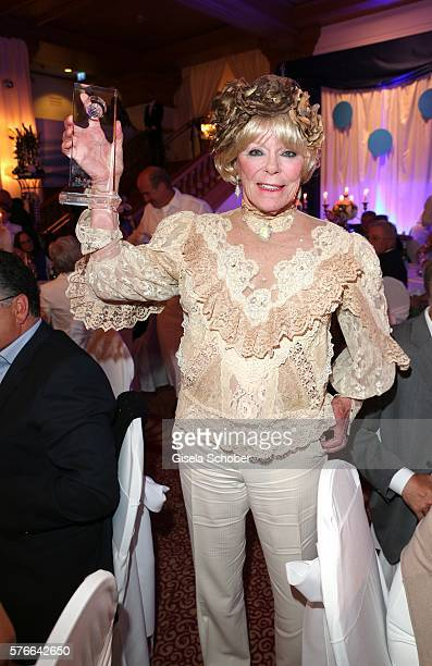 Elke Sommer with award during the Kaiser Cup 2016 gala on July 16 2016 in Bad Griesbach near Passau Germany