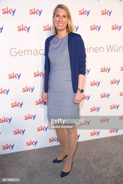 Elke Waltheim Sky Deutschland during the launch event for 'Das neue Sky' on April 17 2018 in Munich Germany