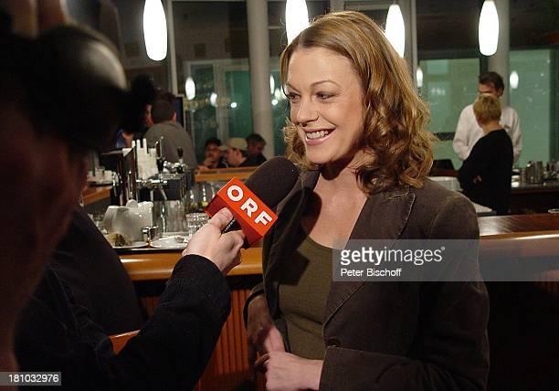 Elke Winkens Pressetermin zum ORFStart der neuen Staffel der SAT1Serie Kommissar Rex Wien/ sterreich Cafe Canetti Schauspielerin Presse Interview ORF...