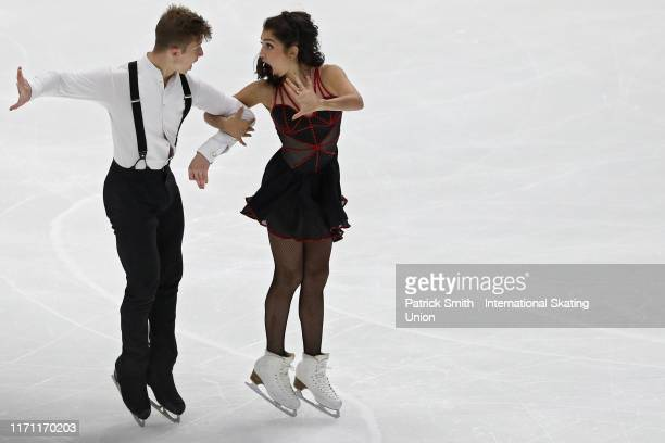 Ella Ales and Daniel Tsarik of the United States perform in the Junior Ice Dance - Rhythm Dance during Day 2 of the ISU Junior Grand Prix of Figure...