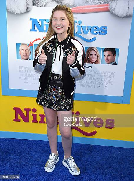 Ella Anderson arrives at the Premiere Of EuropaCorp's 'Nine Lives' at TCL Chinese Theatre on August 1 2016 in Hollywood California