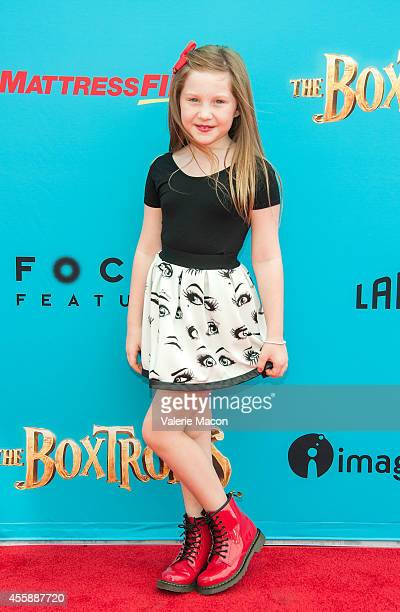 Ella Anderson arrives at the premiere of Premiere Of Focus Features' 'The Boxtrolls' at Universal CityWalk on September 21 2014 in Universal City...
