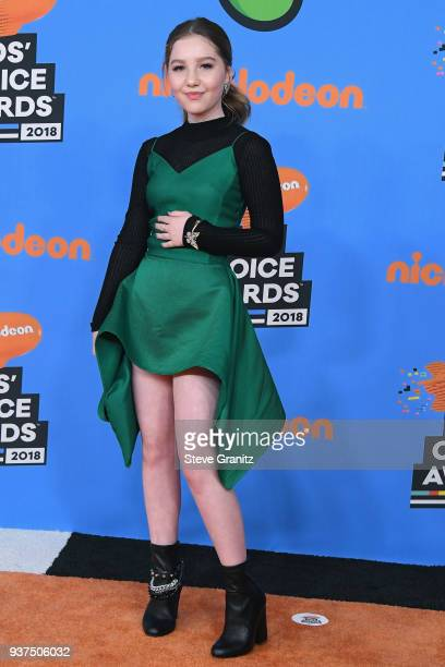 Ella Anderson attends Nickelodeon's 2018 Kids' Choice Awards at The Forum on March 24, 2018 in Inglewood, California.