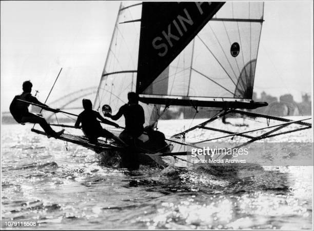 Ella Bache crew Craig nutler Craig Ramsden and Adrian Cahalan November 29 1990