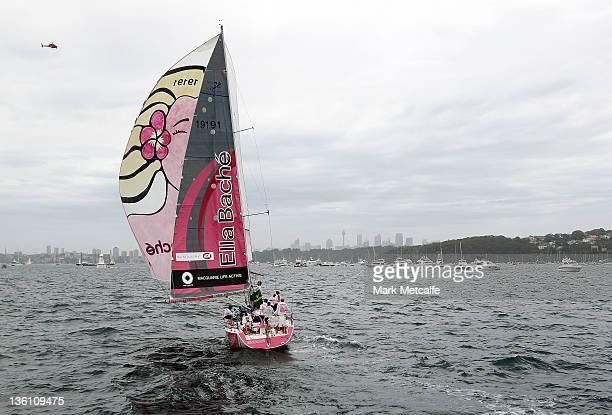 'Ella Bache' skipper Jessica Watson prepares for the start during the 2011 Sydney To Hobart race on December 26 2011 in Sydney Australia