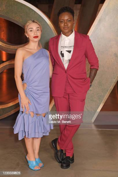 """Ella Baig and Nicola Adams attend a special preview screening of Marvel Studios """"Loki"""" presented by Disney+ on June 8, 2021 in London, England."""