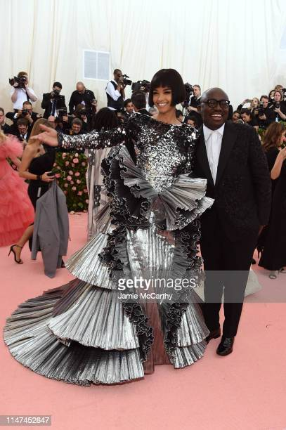 Ella Balinska and Edward Enninful attend The 2019 Met Gala Celebrating Camp Notes on Fashion at Metropolitan Museum of Art on May 06 2019 in New York...