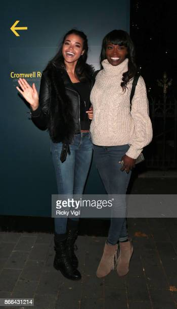 Ella Balinska and Lorraine Pascale seen attending the Natural History Museum Ice Rink - launch party on October 25, 2017 in London, England.