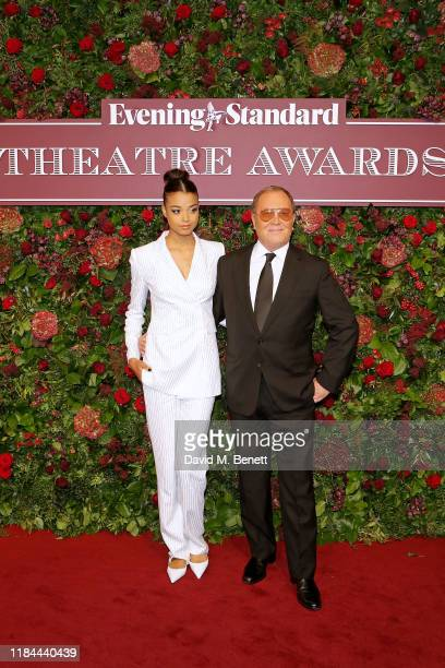 Ella Balinska and Michael Kors attend 65th Evening Standard theatre Awards in association with Michael Kors at the London Coliseum on November 24,...