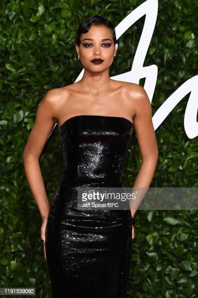 Ella Balinska arrives at The Fashion Awards 2019 held at Royal Albert Hall on December 02 2019 in London England