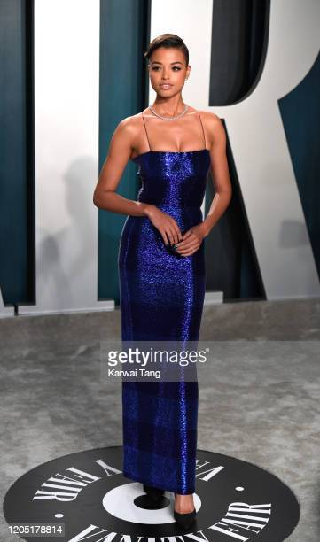 Ella Balinska arriving for the 2020 Vanity Fair Oscar Party Hosted By Radhika Jones, at the Wallis Annenberg Center for the Performing Arts on...