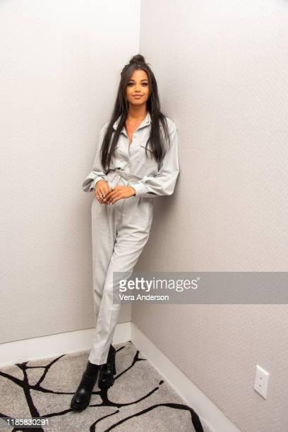 Ella Balinska at the Charlie's Angels Press Conference at the Conrad Hotel on November 05 2019 in New York City