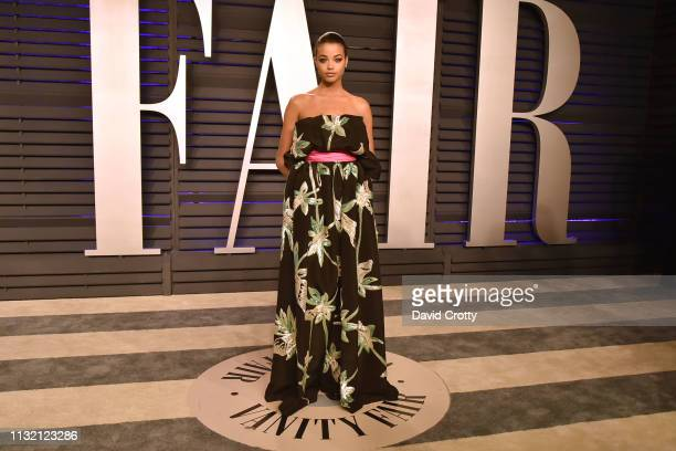 Ella Balinska attends the 2019 Vanity Fair Oscar Party at Wallis Annenberg Center for the Performing Arts on February 24 2019 in Beverly Hills...
