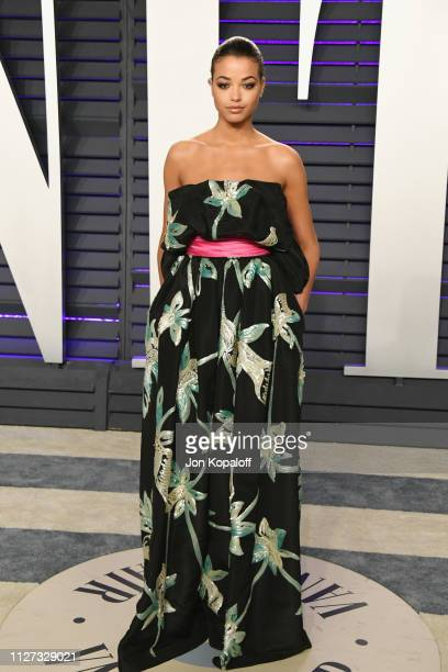 Ella Balinska attends the 2019 Vanity Fair Oscar Party hosted by Radhika Jones at Wallis Annenberg Center for the Performing Arts on February 24 2019...