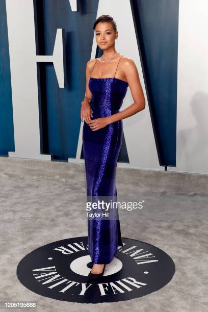 Ella Balinska attends the 2020 Vanity Fair Oscar Party at Wallis Annenberg Center for the Performing Arts on February 09, 2020 in Beverly Hills,...