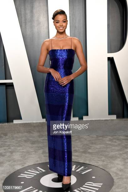 Ella Balinska attends the 2020 Vanity Fair Oscar Party hosted by Radhika Jones at Wallis Annenberg Center for the Performing Arts on February 09 2020...