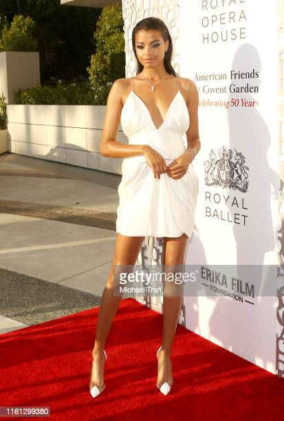 Ella Balinska attends the American Friends of Covent Garden 50th Anniversary celebration held at JeanGeorges Beverly Hills on July 10 2019 in Beverly...
