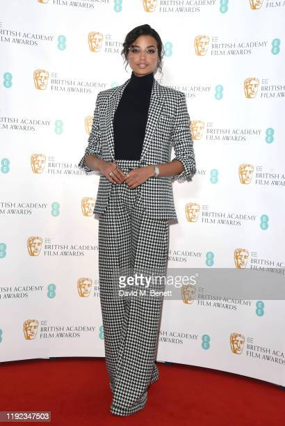 Ella Balinska attends the BAFTA Film Awards Nominations Announcement 2020 photcall at BAFTA on January 7, 2020 in London, England.