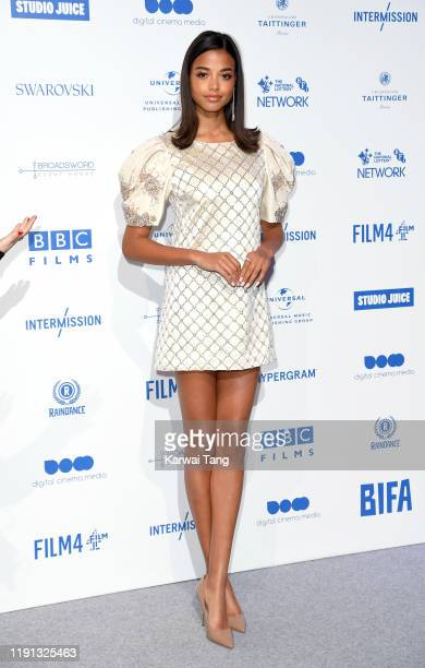 Ella Balinska attends the British Independent Film Awards 2019 at Old Billingsgate on December 01, 2019 in London, England.
