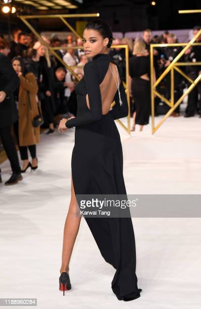 "Ella Balinska attends the ""Charlie's Angels"" UK Premiere at The Curzon Mayfair on November 20, 2019 in London, England."