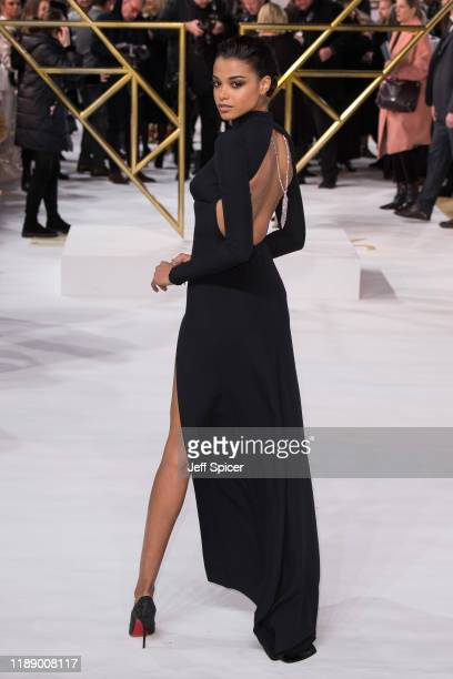 Ella Balinska attends the Charlie's Angels UK Premiere at The Curzon Mayfair on November 20 2019 in London England